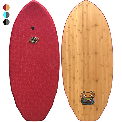 affodable Skimboard – 48-inch hybrid skimboard (known as The Skimburger) – a skimboard for experienced skimboarders with lightweight closed-cell styrofoam, wax-free hood, and wood deck.