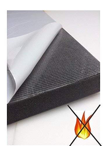 Glatt Schaumstoff SELBSTKLEBEND FOLIE Dämmung Schallschutz Flammhemen- MVSS302d akustik (Mit Selbstklebend, 7 cm)