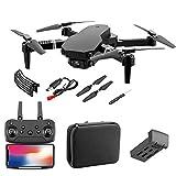 QiChan Drone con cámara para Adultos, WiFi 1080P 4K HD Dual Camera FPV Drone, RC Quadcopter para Principiantes con transmisión en Tiempo Real, retención de altitud, despegue/Aterrizaje con una tecla