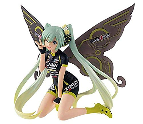 BFG158 Cartoon Statuette Rennen Hatsune Miku Modell TeamUKYO Unterstützung Tony Schmetterling Puppe PVC Ornament 13CM