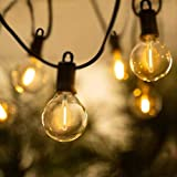 ZOTOYI 25Ft G40 Outdoor String Lights, 12+1Pcs Shatterproof Bulbs UL Listed Waterproof IP65 LED Patio Lights, Connectable Hanging Lights for Backyard Gazebo Balcony Party, 2700K, E12 Socket