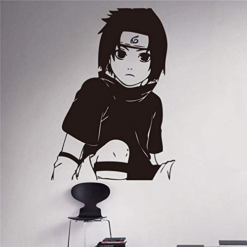 hetingyue creatieve wandklok anime-wanddecoratie Japanse anime ninja-sasuke wandtattoo kinderkamer decoratie huis woonkamer