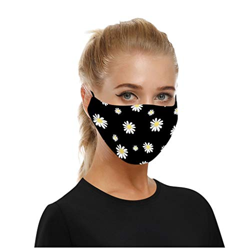 MmNote Unisex Face 𝗠𝗮𝘀𝐤 Silk Reusable Mack Filter Dust-Proof Butterfly floral print Face Scarf