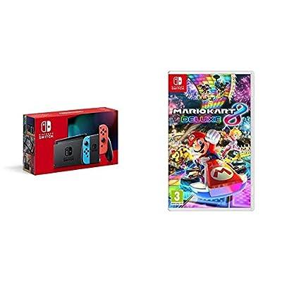 Nintendo Switch - Neon Red/Neon Blue + Mario Kart 8 Deluxe from