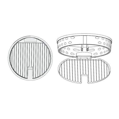 Colador de fregadero de cocina de plástico, colador multipuposo, filtro de drenaje, desagüe de ducha, recogedor de pelo, diámetro de 82,5 mm para cocina y bañera