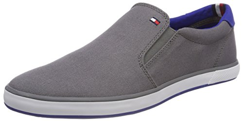 Tommy Hilfiger Iconic Slip On Sneaker, Zapatillas Hombre, Gris (Steel Grey 039), 42 EU