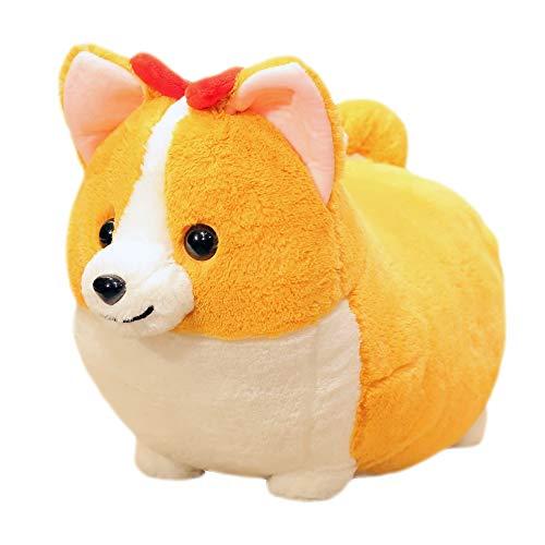 Simulatie Smile Corgi Dog Doll Cute PP katoenen kussen liggen Hond Pluchen speelgoed Ins Kinderen Poppen Doll (Size : L)