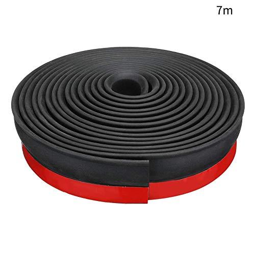 xiegons0 Universal Garagentor Schwelle Dichtung Tür Entwurf Blocker Unten Dichtung für Stopper Wetter Streifen Geräusche Schallgedämmte - Schwarz + Rot, 7m