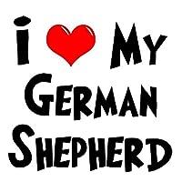 Jinling 私はドイツの羊飼いの面白い車のステッカー車のステッカー車のアップリケ15x16cm (Color : 1)