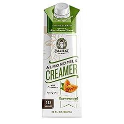 Califia Farms Unsweetened Almondmilk Coffee Creamer with Coconut Cream, 32 Oz | Dairy Free | Whole30