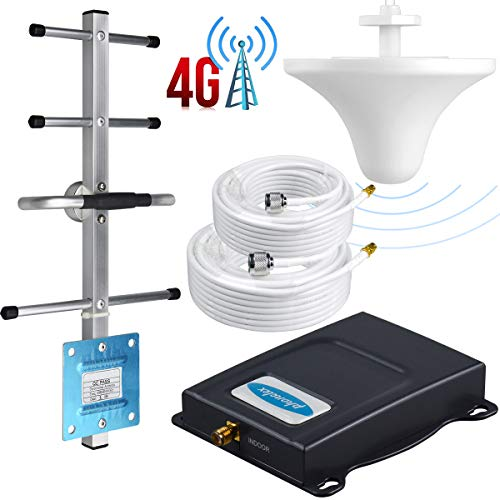 Phonelex1 Cell Phone Signal Booster Verizon 4G LTE Band13 700Mhz Signal Booster Verizon Cell Phone Signal Amplifier Repeater Mobile Phone Signal Booster with Ceiling/Yagi Antenna Kits for Home Office