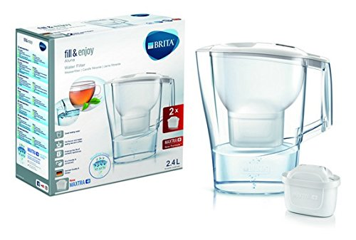 BRITA 1024024 Pitcher Water Filter 2.4L Transparent, White – Water...