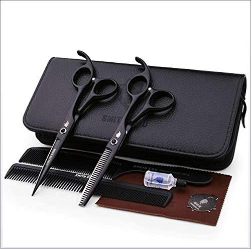 YK SCISSORS Friseur professionelle Werkzeuge, Profi Haarschere Friseurschere, 6 zoll Haarschneideschere rostfrei 440c hohe H?rte japanischen Salon Haare schneiden,D,5.5 inch set