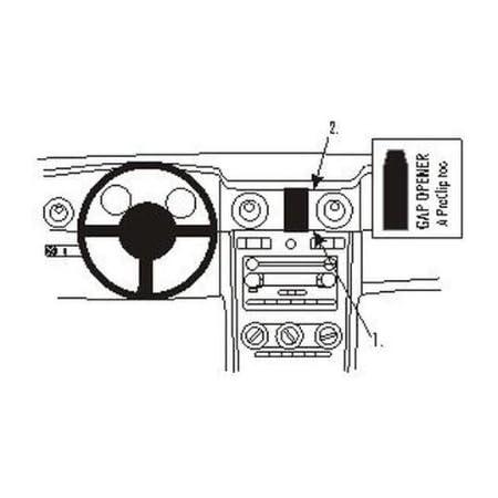 Brodit 855096 Proclip Halterung Elektronik