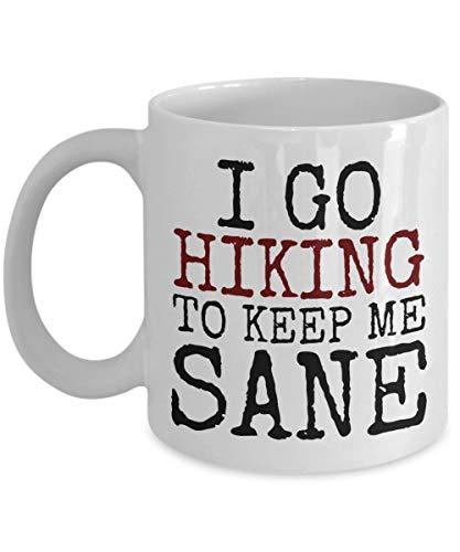 N\A Wanderliebhaber Geschenk für Wanderer Kaffeetasse Lustiges Sprichwort Gehen Sie wandern, um Mich gesund zu halten
