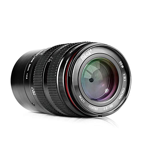 MEKE 85mm F2.8 Manual Focus Aspherical Medium Telephoto Macro Lens with Portrait Capability for Fuji X-Mount Cameras Such as X-Pro2 X-E3 X-T1 X-T2 X-T3 X-T10 X-T20 X-A2 X-T100 X-E1 X-S10 X-T4 X30