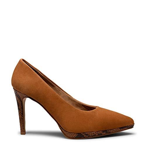 Glam- Zapato Cuero con tacón de Aguja Animal Print