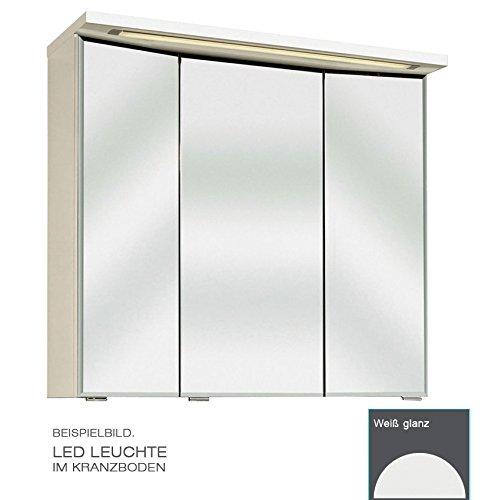 PELIPAL Trentino 770/800 Spiegelschrank 3D / Weiß/LED-Leuchte / 75 x 72 x 20 cm/EEK: A++