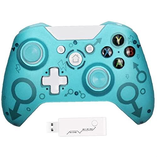 ZLQBHJ Gamepad inalámbrico, portátil 2.4g Recargable Recargable gamenepad Alto Sensible, para PS3 Consola &Ordenador Personal Windows 7,8,10, admite Ejes de gyro y vibración Dual (Color : Blue)