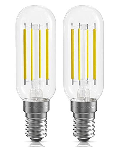 Bombillas LED para campana extractora, Bombillas LED para horno, Blanco frío 6000K, Paquete de 2 bombillas E14 para campana extractora, No, 3W Bombilla para extractor de aire Equivalente a halógeno d