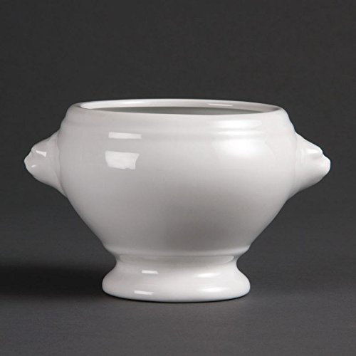 Olympia W442- Cuenco para Sopa Cabeza de León, color Blanco, Pack de 6