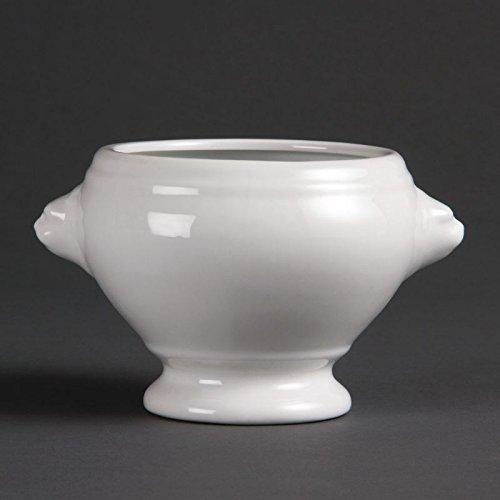 Olympia Whiteware Lion Head Soup Bowls 475Ml Porcelain Kitchen Dish 6pc