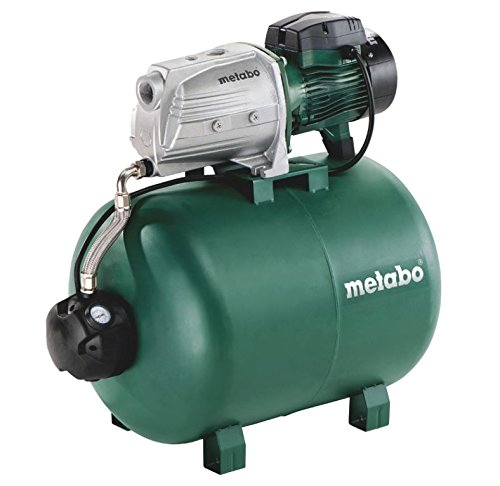 Metabo Hauswasserwerk HWW 9000/100 G, kraftvolle Hauswasserpumpe mit 1900 W, energiesparende Pumpe mit Überlastschutz, Fördermenge 9.000 l/h, 60097700