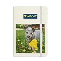 ハンサムな子犬・ペット写真撮影の写真 ノートブッククラシックジャーナル日記A 5