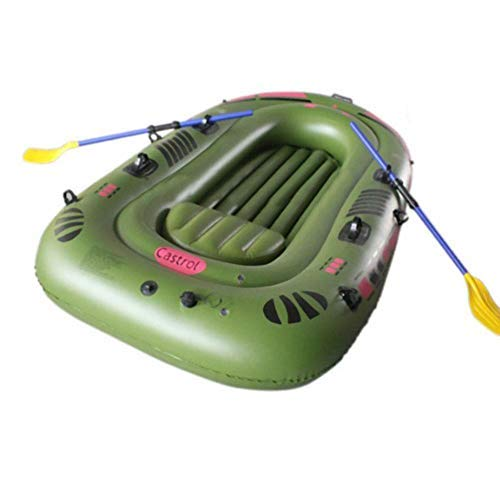 Dettelin 1/2/3 Person Schlauchboot Blow Up Raft Set mit Rudern und Fußpumpe verdickte Rafting-Boote, aufblasbare Kajaks zum Angeln Lake Rafting