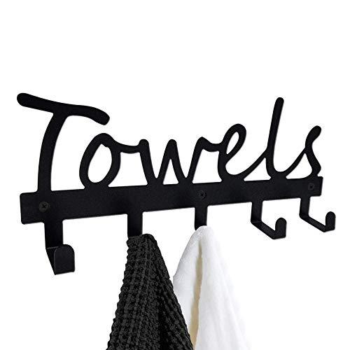 hclshops Titular de Llaves de Metal Ganchos Rack Cocina Entrada Organización de Almacenamiento Decoración (Color : Towels)