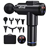 Massage Gun for Athletes, Professional Deep Tissue Massage Gun for Back Neck Pain Relief with 8 Heads 99 Speed, Percussion Muscle Massager with Portable Storage Case (Black)