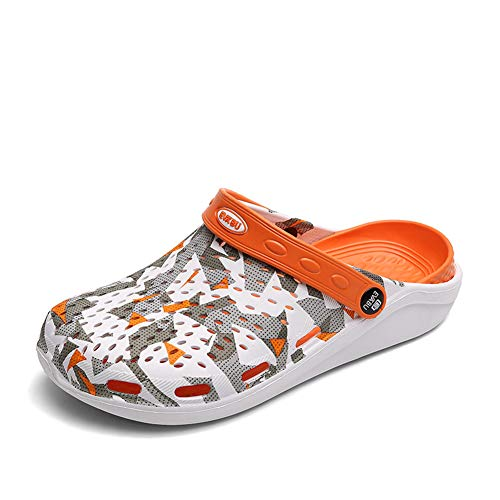 FDSVCSXV - Zapato gráfico estacionario clásico para hombre, zapatos de jardín ligeros para hombres de verano, sandalias unisex ajustables antideslizantes A,45