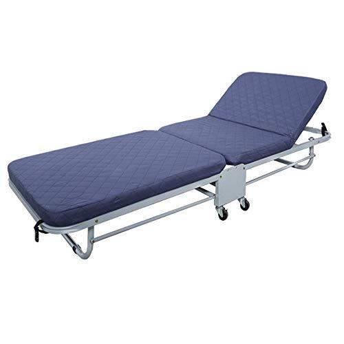 GHKT Cama Plegable Al Aire Libre del Balcón Casero Colchón Plegable Memoria de Camp Campo de la Cama Plegable de huéspedes Bed Superficie cómoda colchón (Color : Blue, Size : 188 * 65 * 28cm)