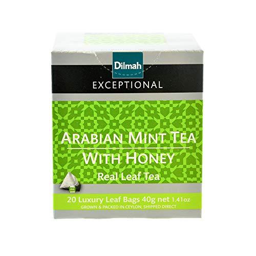 Dilmah Arabian Mint with Honey Tea 20 bolsitas de té - Dilmah Té de gama excepcional en bolsitas de hojas de lujo Caja de té de Ceilán puro