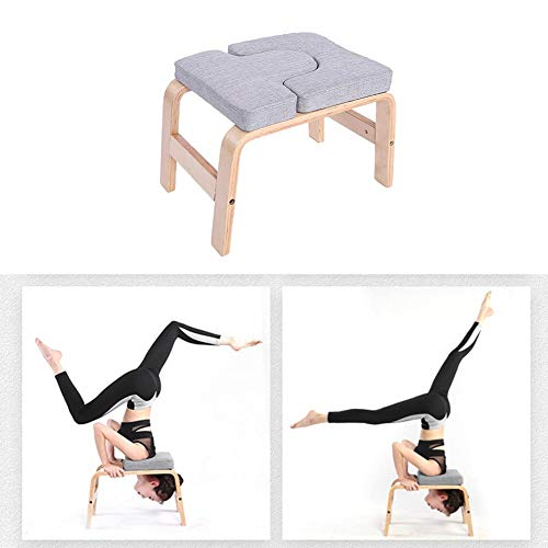 colinsa Yoga Headstand Bench Yoga Stool Yoga Inversion Chair Stool Handstand for Family Gym Relieve Fatigue