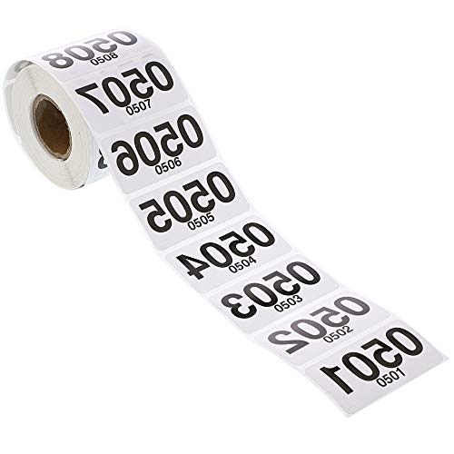 Juvale Live Sale Reverse Number Stickers, Consecutive 501-1000 (500 Count)