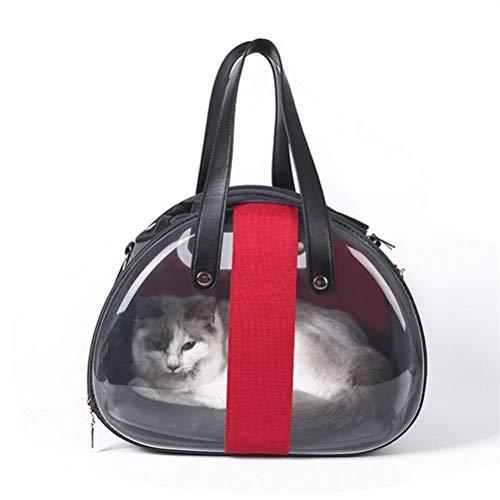 WUHUAROU Mochila para Mascotas Puppy Cat Carrier Space Capsule Pet Hombro Bolsa de Transporte Plegable Jaula de Animales pequeños para Perro Sling Handbag (Color : Red)