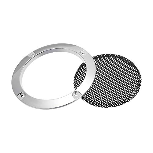 uxcell Speaker Grill Cover 3 Inch 95mm Mesh Decorative Circle Subwoofer Guard Protector Black and Silver