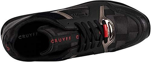 Cruyff de los Hombres Zapatillas de Deporte en Piel lusso, Negro