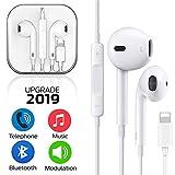 Auriculares in-Ear con micrófono,Auriculares estéreo con Aislamiento de Ruido para iPhone 7 7 Plus 8 8 Plus X (conectividad Bluetooth)