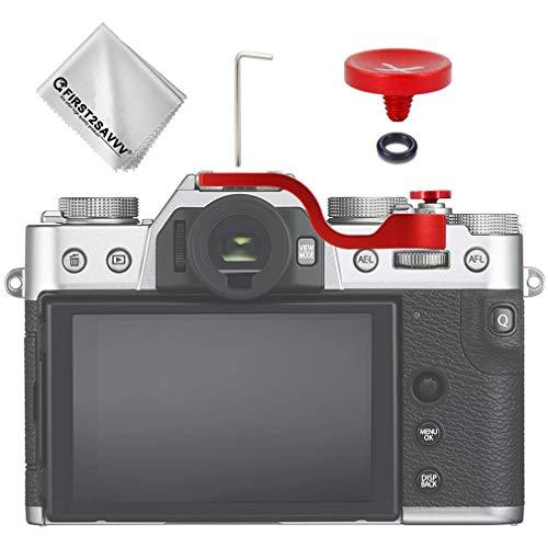 サムレスト サムグリップ + シャッターボタン 富士フイルム Fuji Fujifilm X-T30 X-T20 X-T10 対応 (赤)