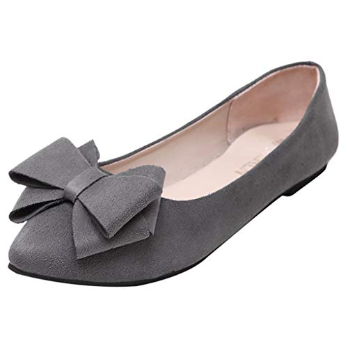 LIMITA Lässige Schuhe Einzelne Schuhe der Frauen Flache Faule Schuhe Damen Mary Jane Halbschuhe Flache Schuhe Damen Geschlossene Ballerinas