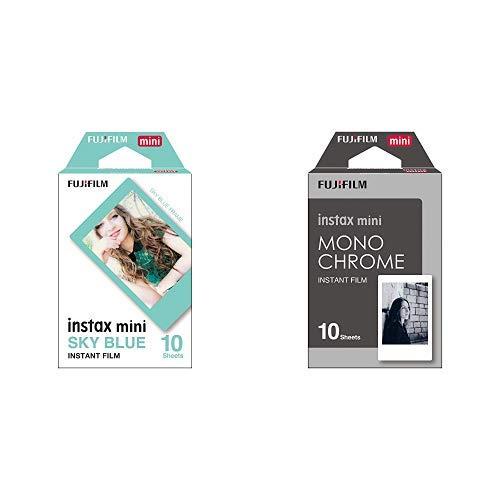 Fujifilm Instax Mini pellicola & 16531958 Mini Pellicola Istantanea Monochrome, 10 Pose, Bianco