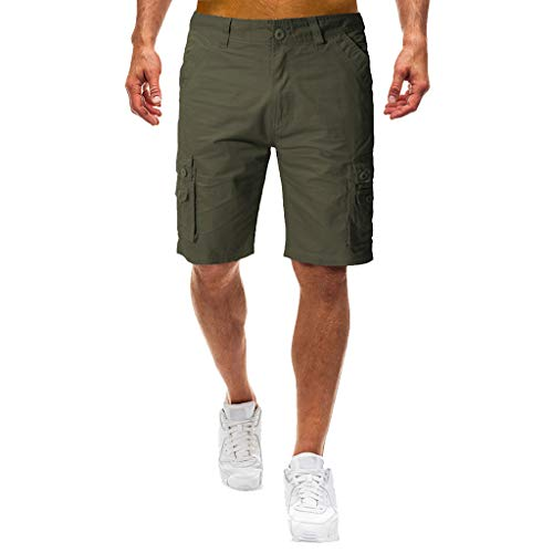 Herren Cargo Shorts, Sumeiwilly Männer Bermuda Kurze Hose Somme Stretch Fitness Sport Shorts Baumwolle Jogging Training Hose Casual Chino Shorts