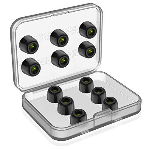 イヤーピース 6セット 低反発 遮音性 交換用 イヤホンパッド イヤホンキャップ 収納ボックス付き