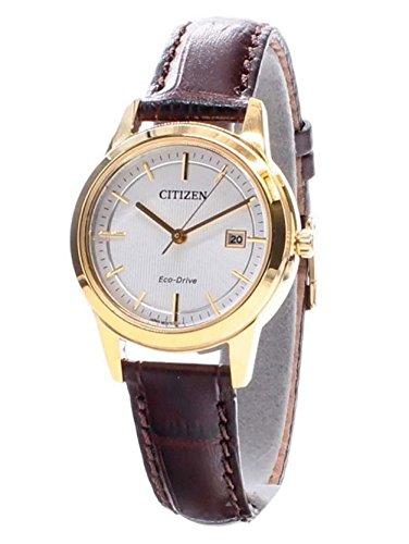 Citizen dames analoog kwarts horloge met lederen armband FE1083-02A