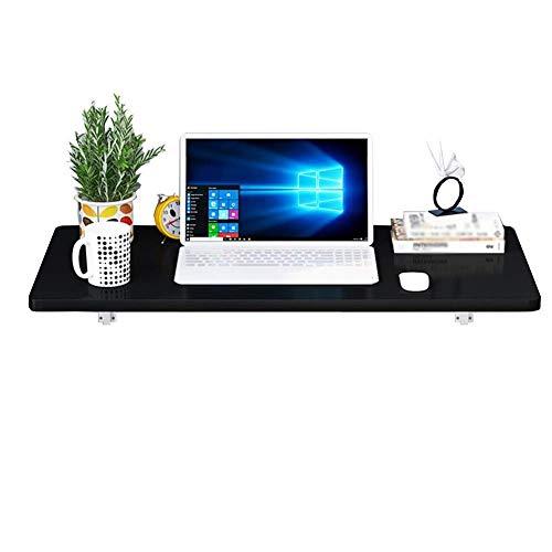 ZND Eenvoudig Idee Wandmontage Desktop Eenvoudige Idee Laptop Stand Multi-Functie Boekenplank Bureau Spuitverf, Houten Gebaseerde Panelen, 3 Kleuren, 9 Maten, Zwart,