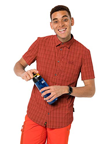 Jack Wolfskin Herren Rays Stretch Vent Hemd, Mexican Pepper Checks, XXL, 1401552