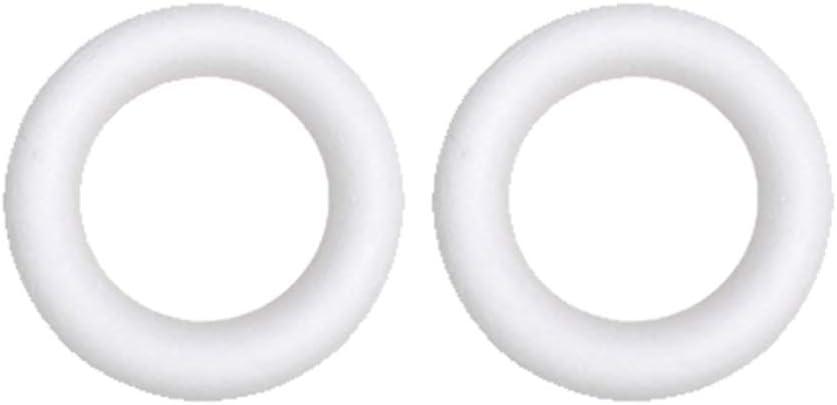NUOBESTY 10pcs artesan/ía corona de espuma anillos de espuma de poliestireno espuma de poliestireno para acci/ón de gracias navidad diy ornamento artesan/ía suministros florales 14.5x2.5cm