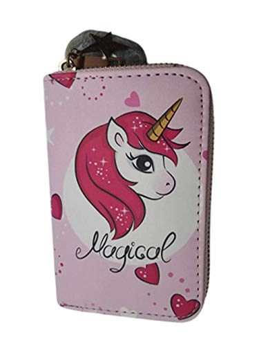 Unicorn Purse with Zip Closure and Star Charms for Women or Girls